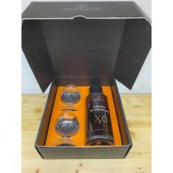 Dellavalle Grappa di Amarone XO confezione con 2 bicchieri